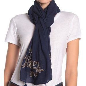 NWT Tommy Bahama Hibiscus Embroidered Scarf